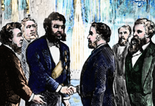 Kalakaua visits Washington dc in 1874
